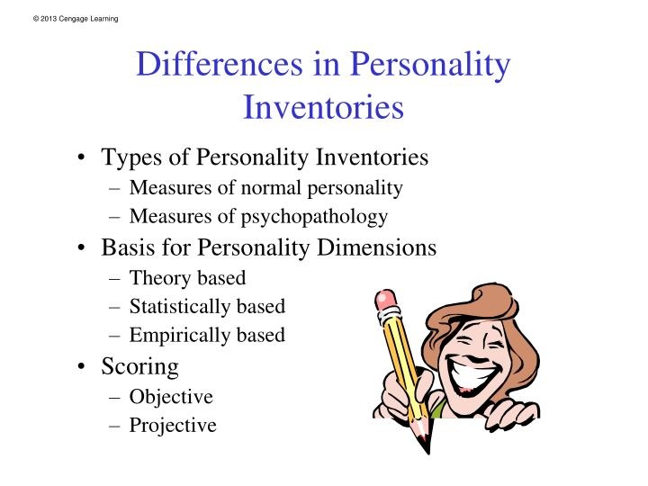 Differences in Personality Inventories