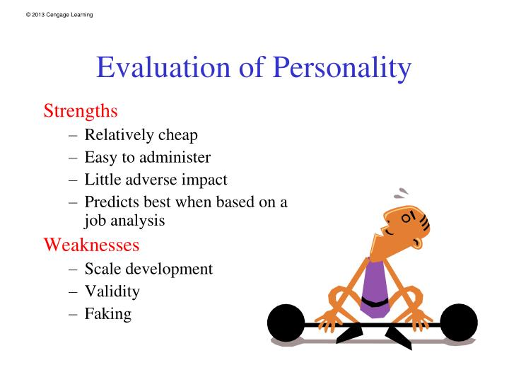 Evaluation of Personality