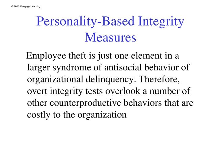 Personality-Based Integrity Measures