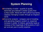 system planning1