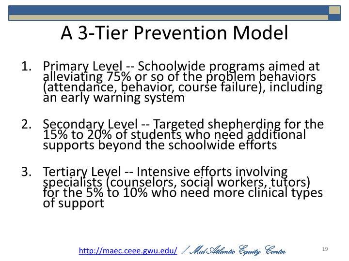 A 3-Tier Prevention Model