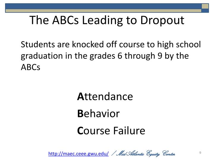 The ABCs Leading to Dropout