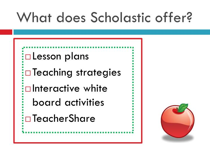 What does scholastic offer