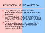 educaci n personalizada