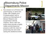 bloomsburg police departments mission