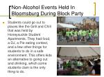 non alcohol events held in bloomsburg during block party