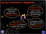 survey comments negative