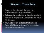student transfers