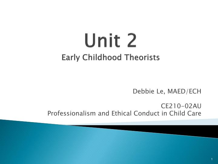 Unit 2 early childhood theorists