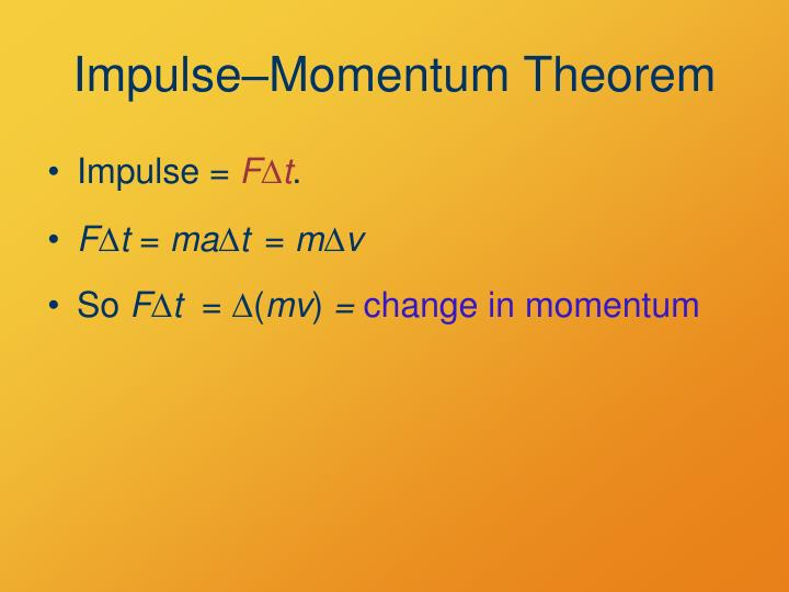 Impulse–Momentum Theorem