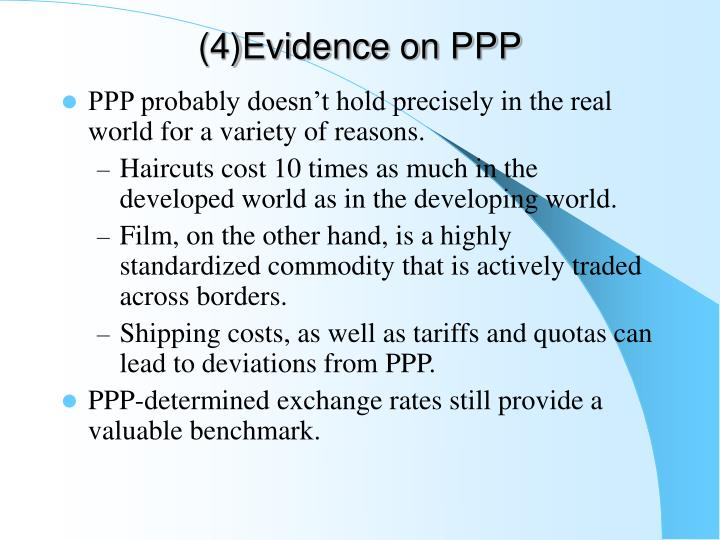 (4)Evidence on PPP