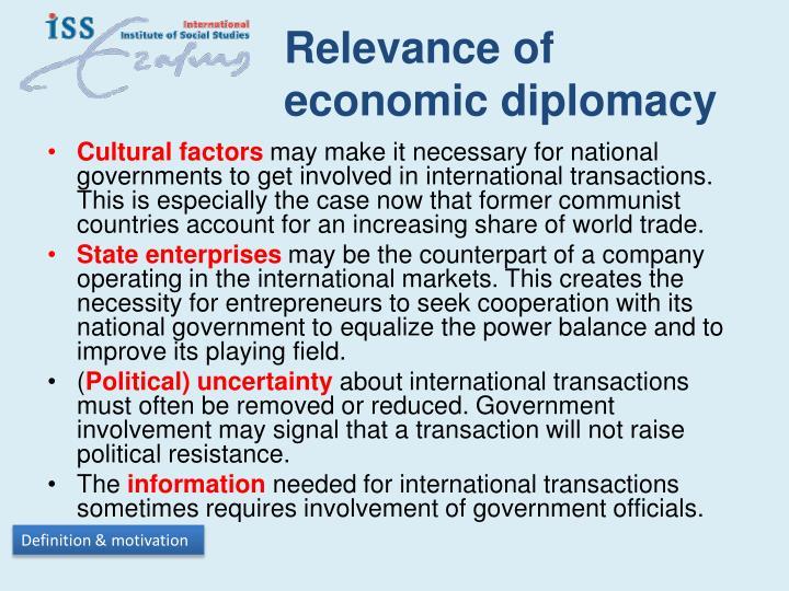 Relevance of economic diplomacy