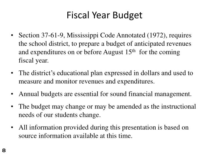 Fiscal Year Budget