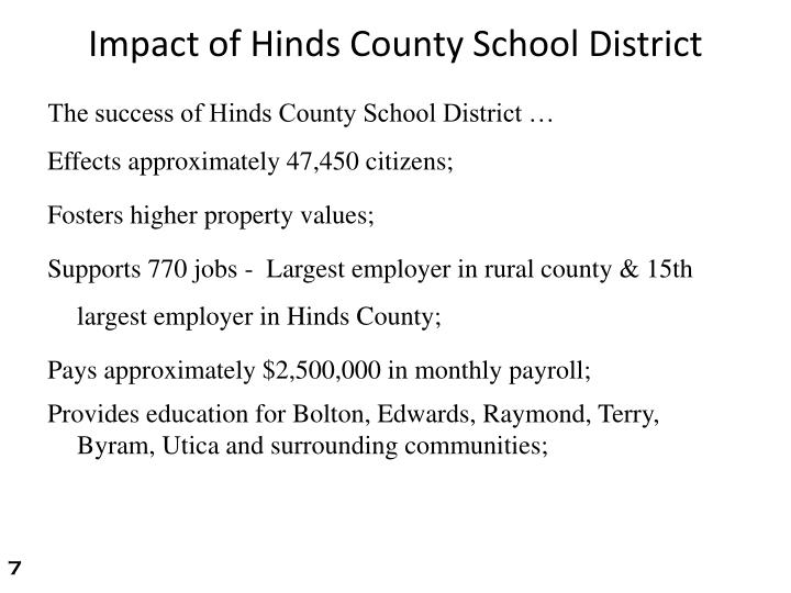 Impact of Hinds County School District