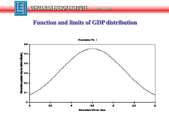 Function and limits of GDP distribution