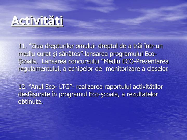 Activităţi