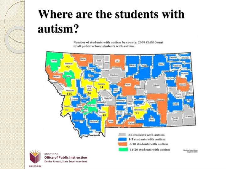 Where are the students with autism?