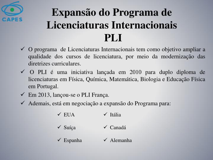 Expansão do Programa de