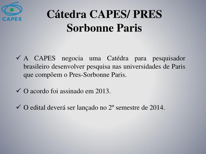 Cátedra CAPES/ PRES