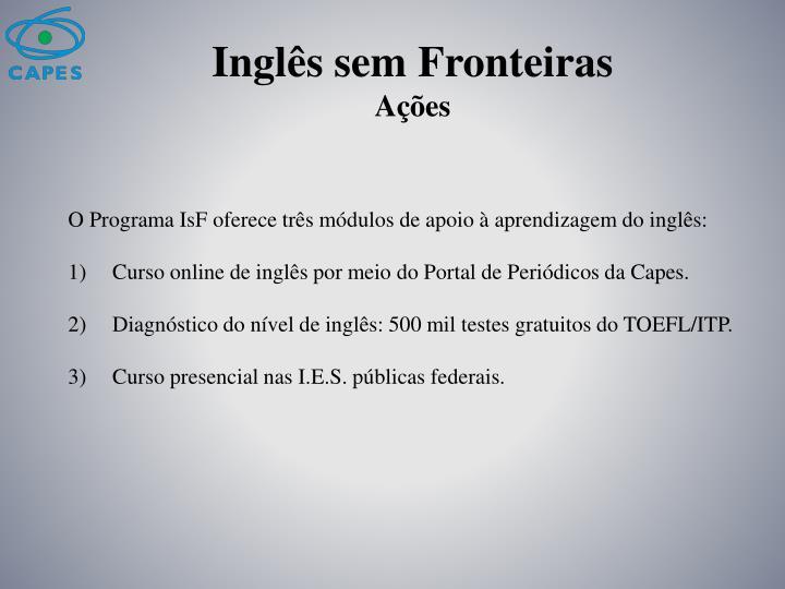 Inglês sem Fronteiras