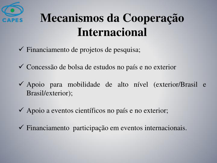 Mecanismos da Cooperação Internacional