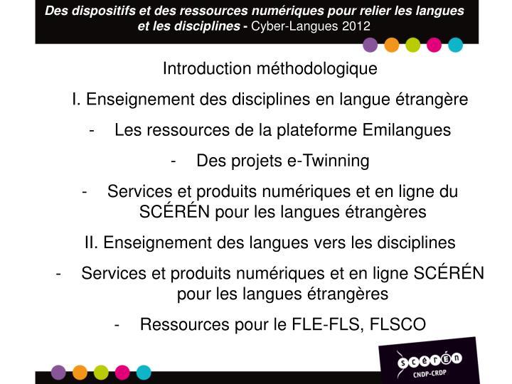 Des dispositifs et des ressources numériques pour relier les langues et les disciplines