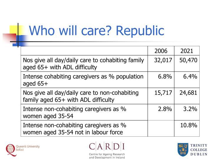 Who will care? Republic