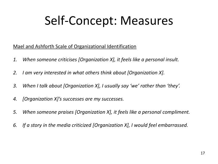 Self-Concept: Measures