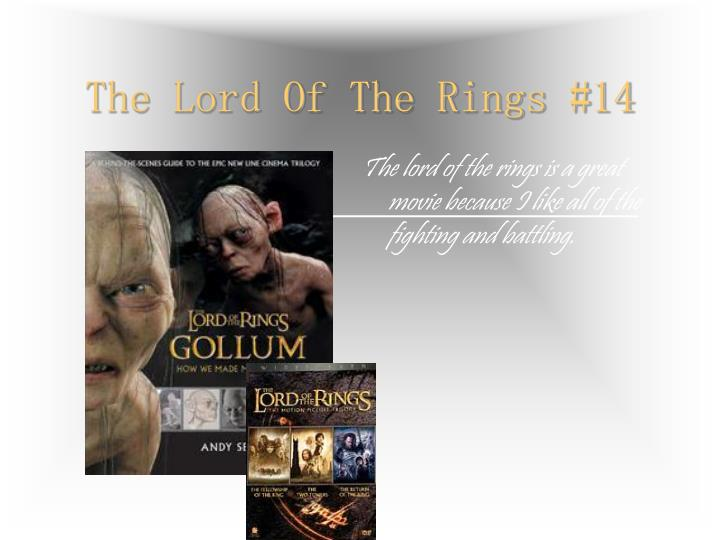 The Lord Of The Rings #14