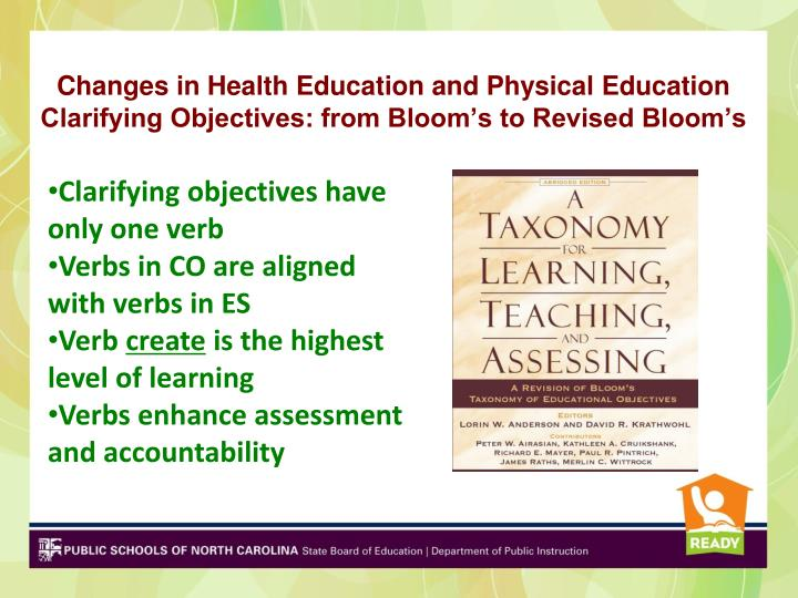 Changes in Health Education and Physical Education