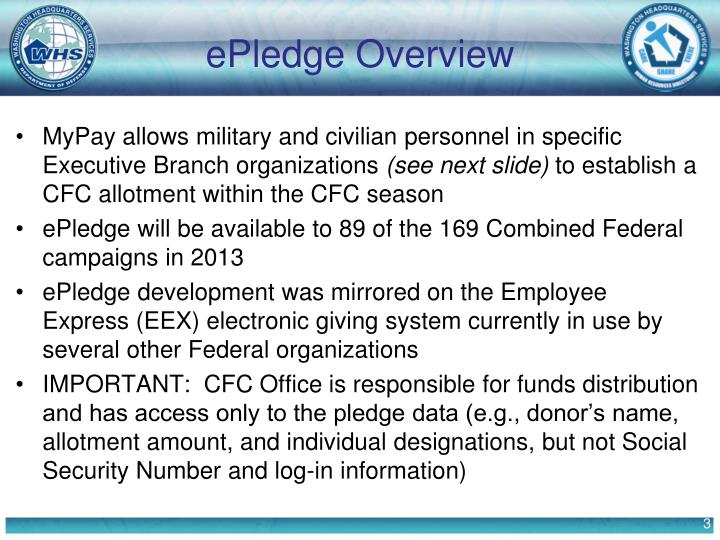 Epledge overview