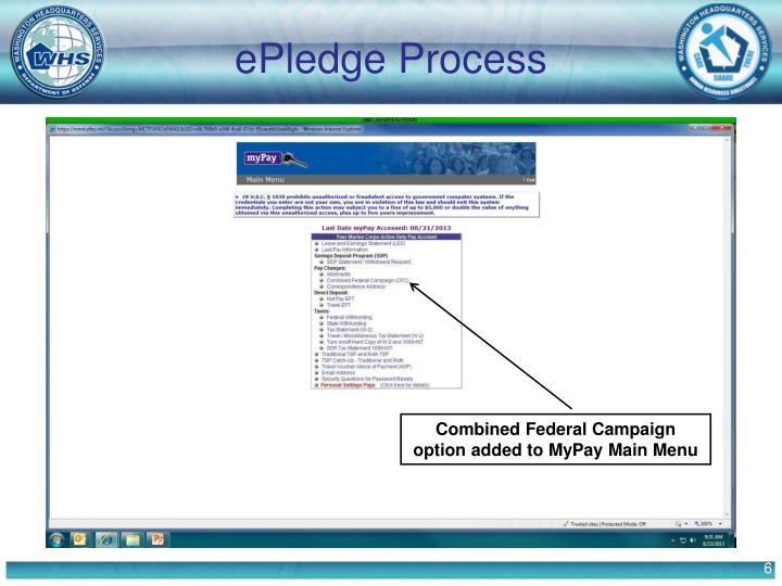 ePledge Process