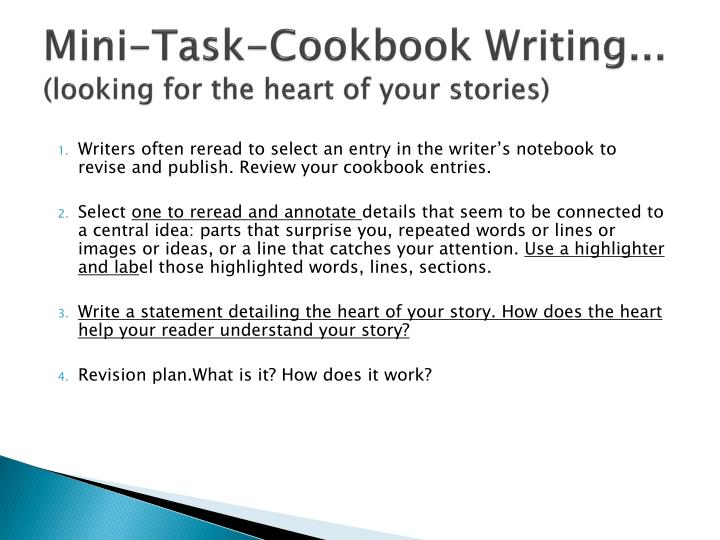 Mini-Task-Cookbook Writing...