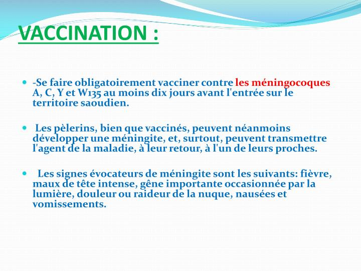 VACCINATION: