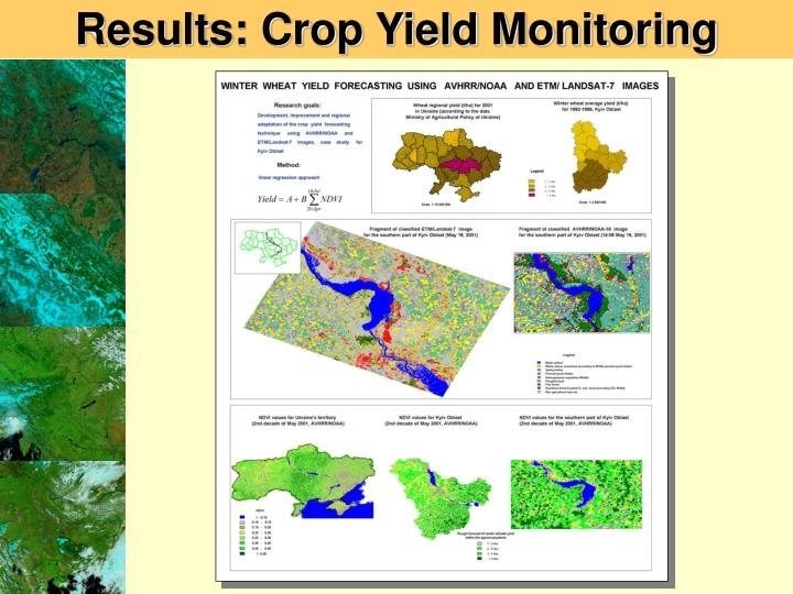 Results: Crop Yield Monitoring