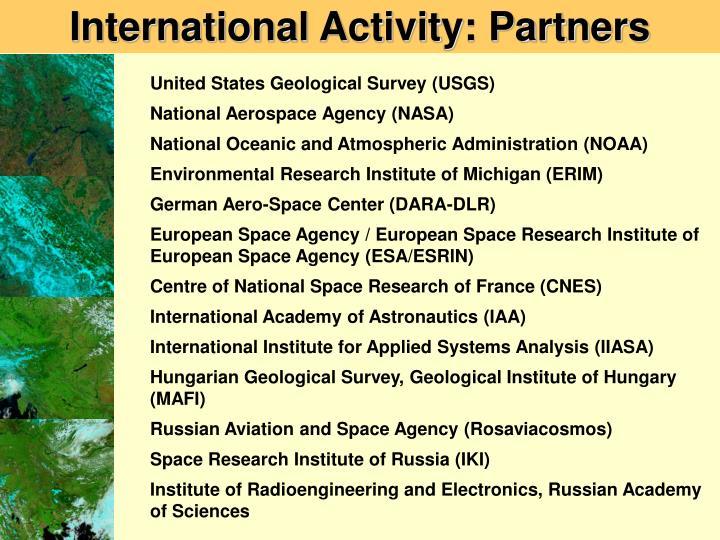International Activity: Partners