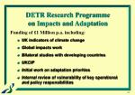 detr research programme on impacts and adaptation