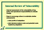internal review of vulnerability