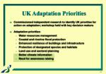 uk adaptation priorities