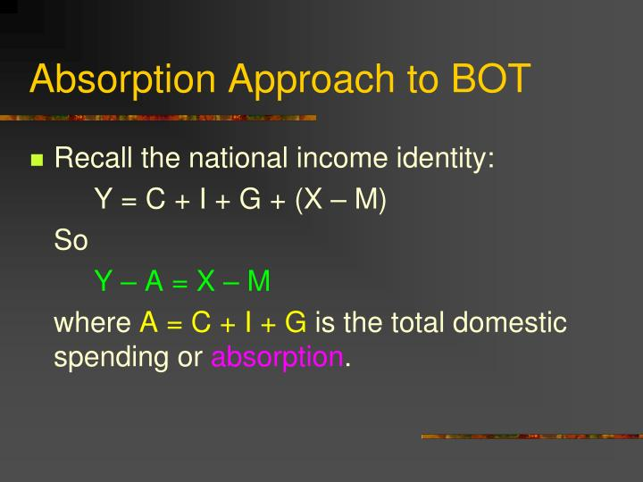 Absorption Approach to BOT