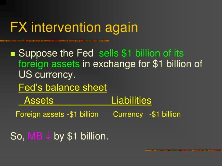 FX intervention again