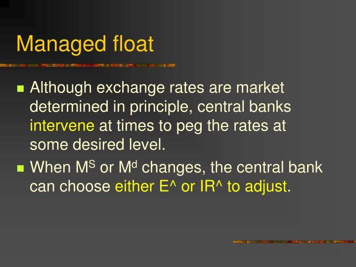 Managed float