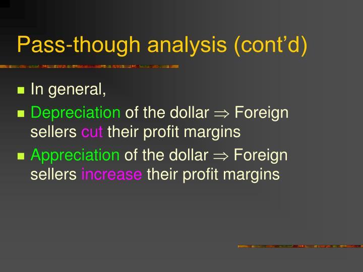 Pass-though analysis (cont'd)