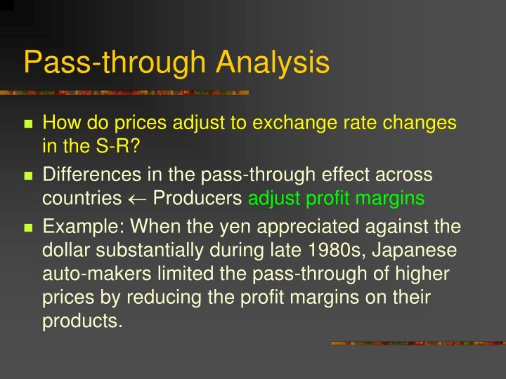 Pass-through Analysis