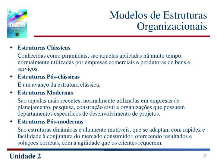 Modelos de Estruturas Organizacionais