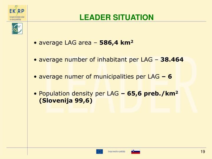 average LAG area –