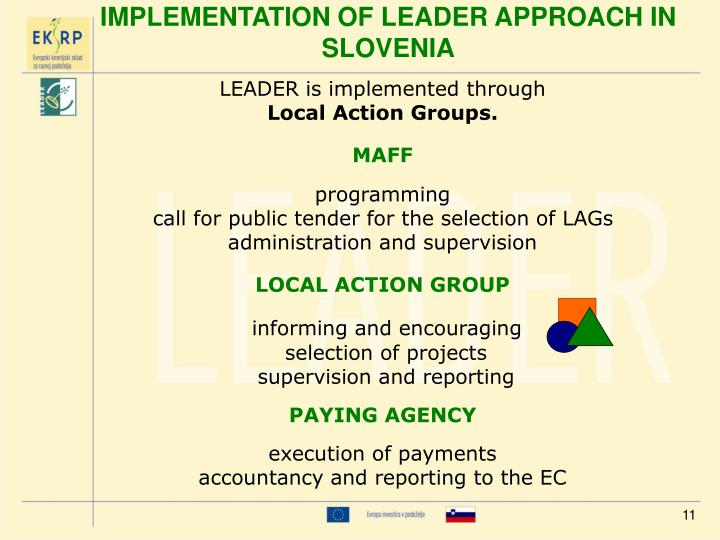 LEADER is implemented through