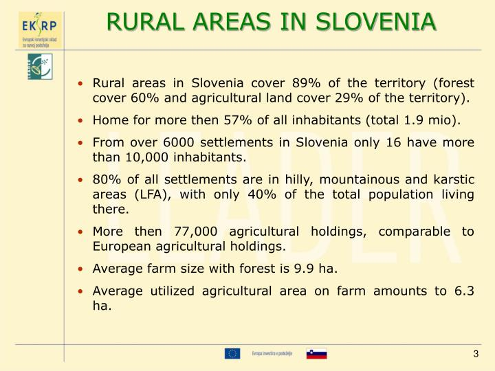 RURAL AREAS IN SLOVENIA