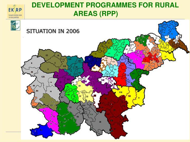 DEVELOPMENT PROGRAMMES FOR RURAL AREAS