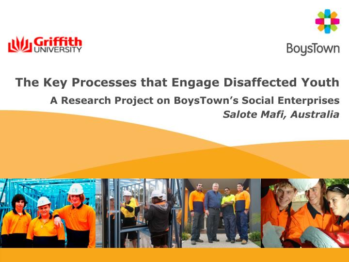 the key processes that engage disaffected youth n.